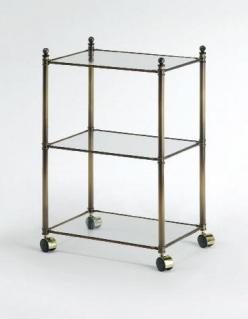 . Windsor PomdOr этажерка напольная стеклянная тройная декор состаренная бронза