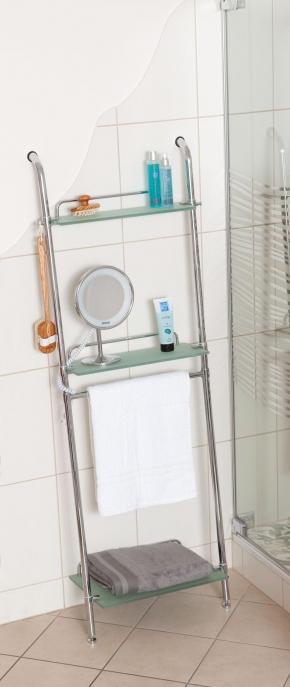 Полки для душа Сетки Полки для ванной стеклянные Полки для полотенец. Этажерка стеклянная 3 полки PETER