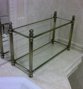 Этажерки для ванной. Этажерка для ванной стеклянная настольная