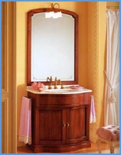 Мебель для ванной комнаты. Мебель для ванной умывальник с зеркалом Eurodesign IL BORGO 5