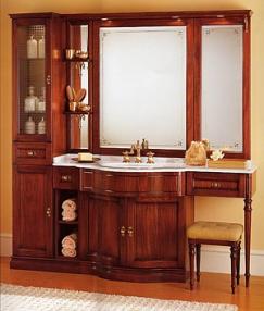 Мебель для ванной комнаты. Мебель для ванной умывальник с зеркалом  Eurodesign IL BORGO 1