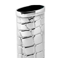 Пепельницы Зажигалки Deluxe. Футляр для зажигалки Кроко Арженте серебро 925 пр.