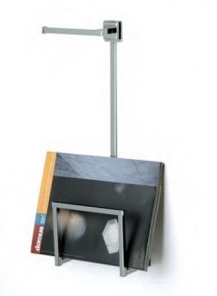 Газетницы настенные металлические. Газетница настенная с держателем для туалетной бумаги Ozi квадрат