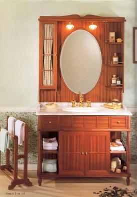 Мебель для ванной комнаты. Мебель для ванной умывальник с зеркалом Eurodesign Green & Roses 1
