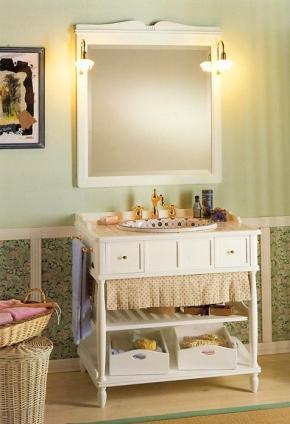 Мебель для ванной комнаты. Мебель для ванной умывальник с зеркалом Eurodesign Green & Roses 7