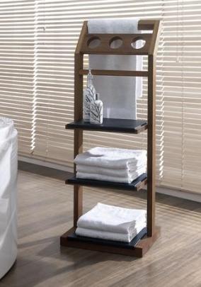 Полки для душа Сетки Полки для ванной стеклянные Полки для полотенец. Этажерка для ванной Günter деревяная