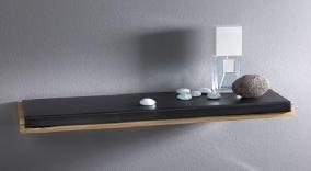 Мебель и Аксессуары для ванной из натурального дерева, Раттана и Бамбука. Полка для ванной Günter деревянная