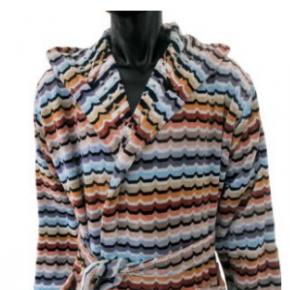 Халаты Одежда для бани и сауны Deluxe. Халат Omar голубой