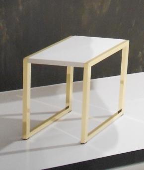 Банкетки для ванной Пуфы Интерьерные Табуреты для ванной и душа Откидные сиденья. Табурет для ванной Hoker Q золотой