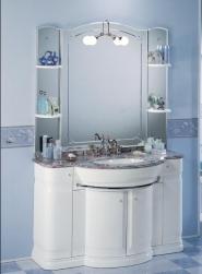 Мебель для ванной комнаты. Мебель для ванной умывальник с зеркалом Eurodesign Hilton 1