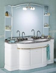 Мебель для ванной комнаты. Мебель для ванной умывальник с зеркалом Eurodesign Hilton 6