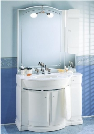 Мебель для ванной комнаты. Мебель для ванной Eurodesign умывальник с зеркалом Hilton 8