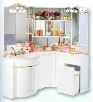 Мебель для ванной комнаты. Мебель для ванной угловой умывальник с зеркалом Eurodesign Hilton 9