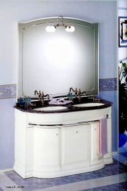 Мебель для ванной комнаты. Мебель для ванной умывальник с зеркалом Eurodesign Hilton 4
