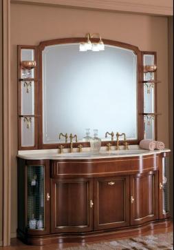 Мебель для ванной комнаты. Мебель для ванной Eurodesign умывальник с зеркалом IL Borgo gold-silver 29