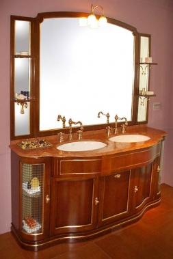 Мебель для ванной комнаты. Мебель для ванной двойной умывальник с зеркалом Eurodesign IL BORGO