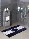 Коврики для ванной комнаты. INKA Nicol коврик для ванной комнаты сине-белый с серебряным люрексом