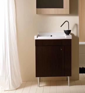 Итальянские постирочные раковины Мебель и оборудование для постирочной комнаты.  Мебель для постирочной Cily Colavene Глубокая раковина для стирки керамическая Венге