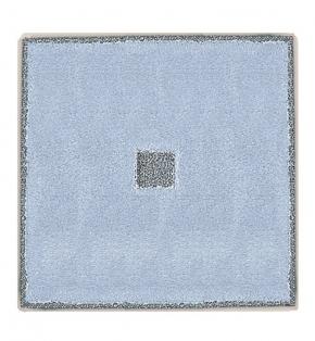 Коврики для ванной комнаты.  Коврик для ванной комнаты PIAZZA Nicol Голубой люрекс золотой серебряный квадратный