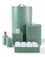 Корзины для белья. Кожаные аксессуары для ванной Корзина для белья, ведро, салфетница