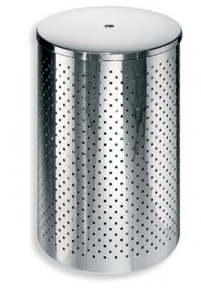 . Корзина для белья Basket 35 металлическая с крышкой Lineabeta