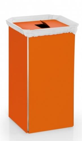 Корзины для белья. Корзина для белья оранжевая ORANGE металлическая Lineabeta