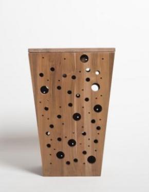 Корзины для белья. Корзина для белья BYBBLES Тиковая деревянная с крышкой