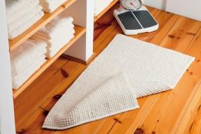Коврики для ванной комнаты.  Хлопковый коврик Knot двухсторонний