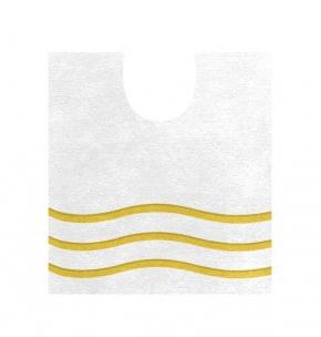 Коврики для ванной комнаты. Mare белый коврик для ванной с вырезом золотой декор
