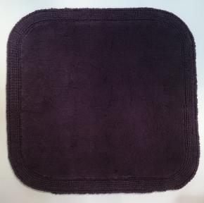 Коврики для ванной комнаты.  Хлопковый коврик для ванной комнаты Nicol LUXOR Plum Слива двухсторонний