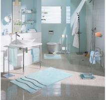 Коврики для ванной комнаты. Mare Коврик для ванной с декором Волна