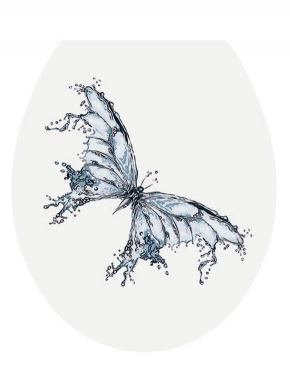 Сиденья для унитаза с крышкой. PAPILIO сиденье для унитаза с микролифтом крышки 3D декор водяная Бабочка