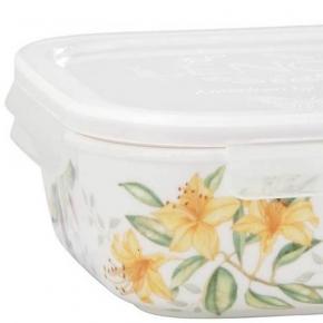 . Фарфоровый контейнер для хранения с крышкой 14,5 см Бабочки на лугу