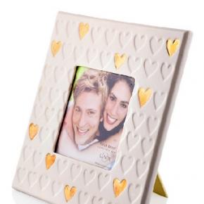 Рамки для фотографий Deluxe. Фарфоровая рамка для фото 10 см Золотая лихорадка