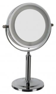 Зеркала косметические с подсветкой увеличением настенные настольные Зеркала с присосками. LINA Nicol зеркало косметическое с подсветкой LED от батареек двухстороннее настольное с увеличением 1х1 и 1х5