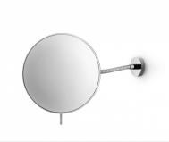 Зеркала косметические с подсветкой увеличением настенные настольные Зеркала с присосками. Косметическое зеркало настенное круглое с гибким держателем с 3-х кратным увеличением Lineabeta