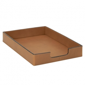 .  Лоток для бумаги Belluno кожаный