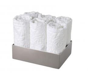 Полотенца хлопковые. Лоток с мини-полотенцами
