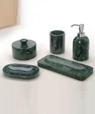 . Marmores Natura VA мраморные аксессуары для ванной настольные зелёные
