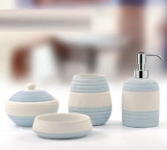 Аксессуары для ванной настольные. Аксессуары для ванной Estate Azzurro настольные керамические