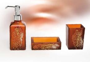 . Аксессуары для ванной Kalahari Bronze Marmores стеклянные