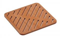 Деревянные коврики и решётки для душа и ванной комнаты. Деревянная решётка для душа и ванны прямоугольная Okume