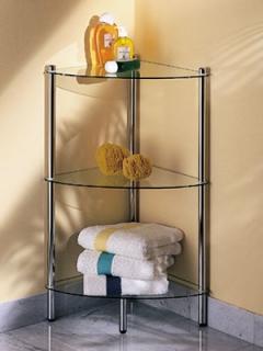 Этажерки для ванной. MAXIMO Nicol этажерка стеклянная для ванной угловая 3 полки