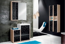 Мебель для ванной комнаты. Мебель для гостевого санузла QUBO, Дуб