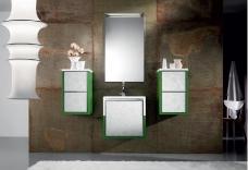 Мебель для ванной комнаты. Мебель для гостевого санузла QUBO, зеленый