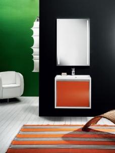 Мебель для ванной комнаты. Мебель для гостевого санузла QUBO, Aragosta