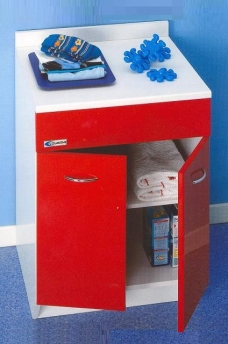 Итальянские постирочные раковины Мебель и оборудование для постирочной комнаты. Мебель для постирочной Base Colavene красный