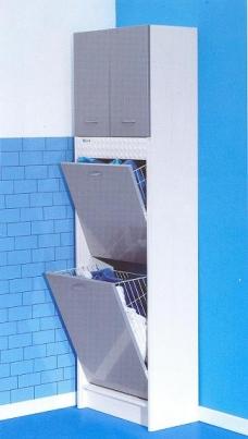 Итальянские постирочные раковины Мебель и оборудование для постирочной комнаты. Мебель для постирочной колонка с корзинами для белья Brava Colavene