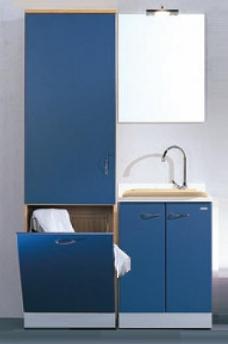 Итальянские постирочные раковины Мебель и оборудование для постирочной комнаты. Постирочная мебель раковина, колонка с корзиной для белья