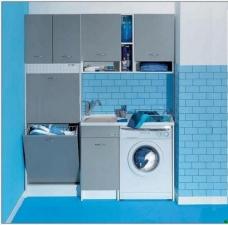 Итальянские постирочные раковины Мебель и оборудование для постирочной комнаты. Глубокая раковина для стирки гарнитур, серый, постирочная мебель Colavene